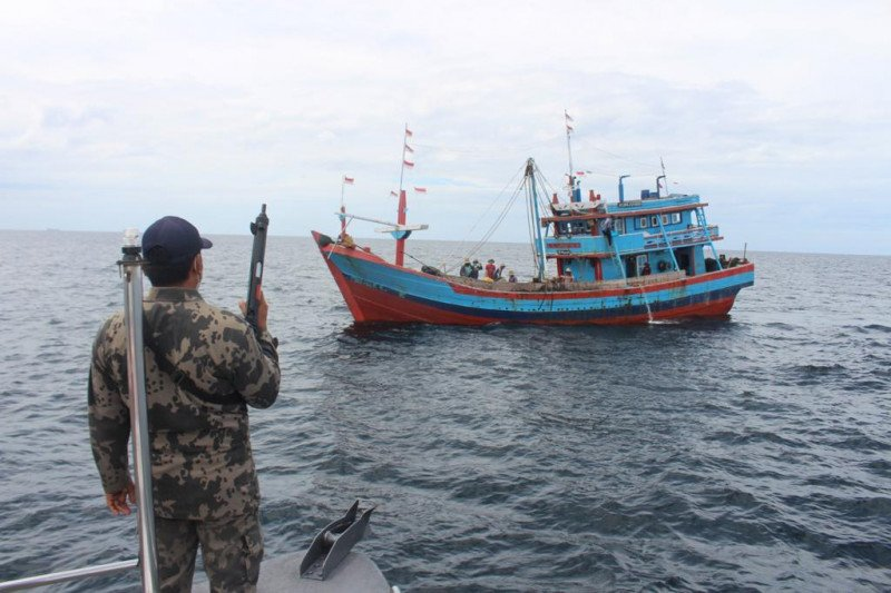 KKP tangkap lebih 50 kapal pelanggar regulasi selama triwulan I 2021