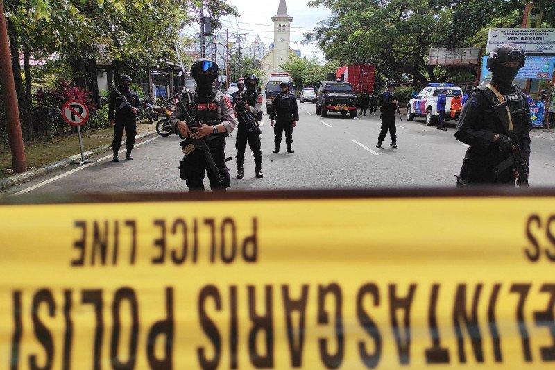 Polisi: Keamanan Gereja Katedral sempat halangi pelaku bom bunuh diri