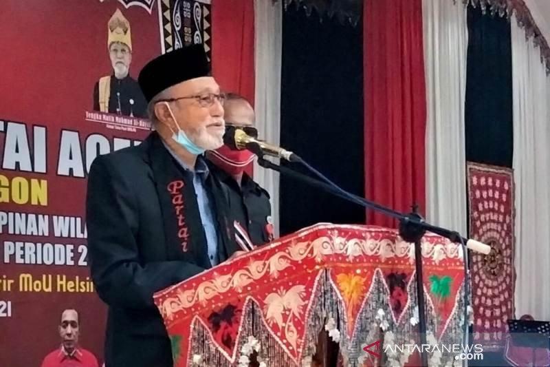 Malik Mahmud tegaskan pencalonan di Partai Aceh tak ada mahar