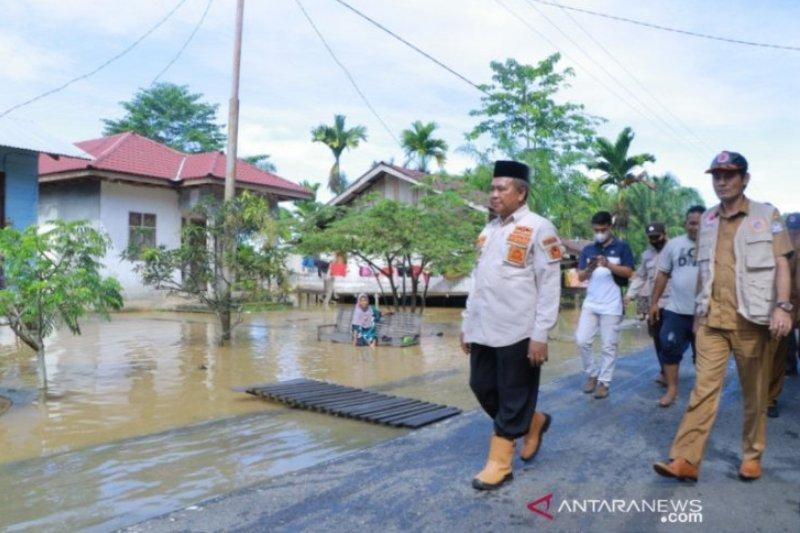 Banjir di Aceh Barat akibat tingginya intensitas hujan