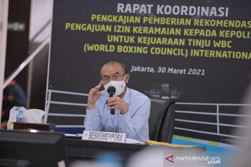 Kemenpora belum bisa beri rekomendasi kejuaraan tinju WBC di Indonesia