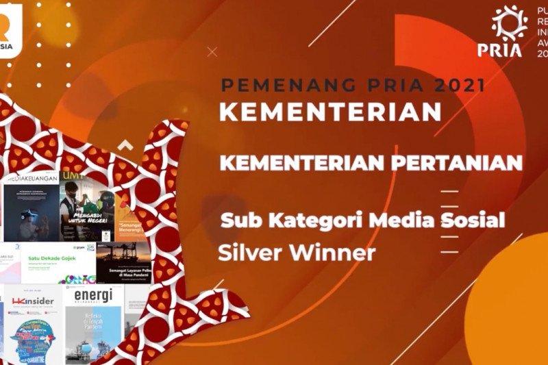 Media sosial Kementan raih penghargaan PR Indonesia Award