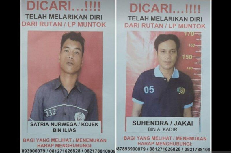 Dua narapidana Rutan Kelas IIB Muntok melarikan diri