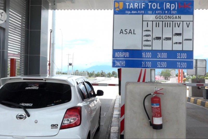 Tol Trans Sumatera Sibanceh seksi tiga mulai terapkan tarif