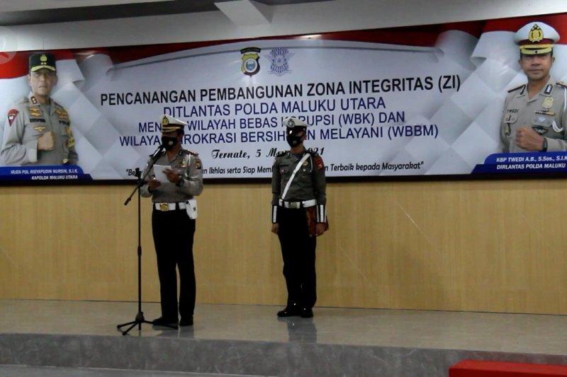 Ditlantas Polda Malut canangkan zona integritas menuju WBK dan WBBM