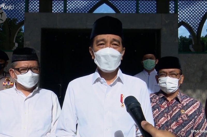 Presiden Jokowi melayat jenazah Artidjo Alkostar di Yogyakarta