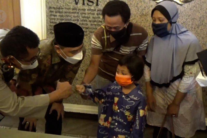 Bocah hilang di Surabaya yang viral akhirnya ditemukan