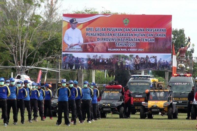 Kalteng kerahkan 8.312 personel gabungan antisipasi karhutla 2021