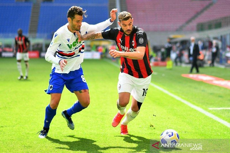 Peluang scudetto Milan menipis selepas diimbangi Sampdoria