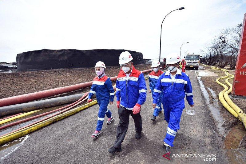 Pascakebakaran Balongan, Menteri ESDM: Optimalkan produksi kilang lain