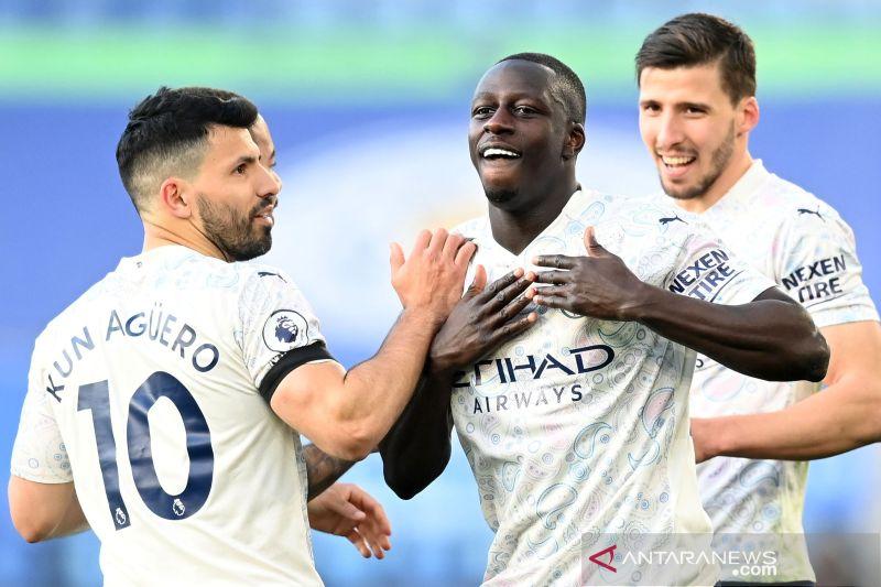 Menang atas Leicester, Man City kokoh di puncak klasemen