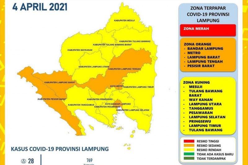 Jumlah kasus positif COVID-19 di Lampung bertambah 28