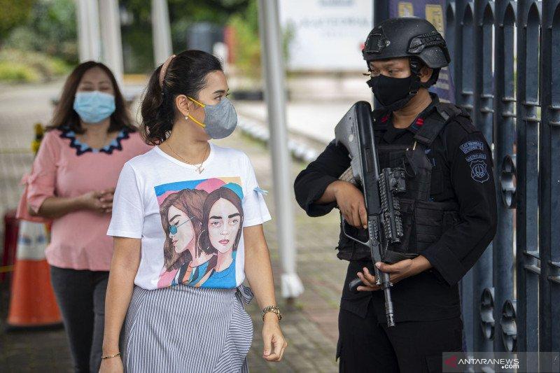 Pengamanan Misa Paskah di Gereja Katedral Jakarta