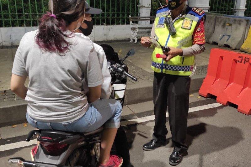 Pengendara motor terjaring razia knalpot bising di Jakarta