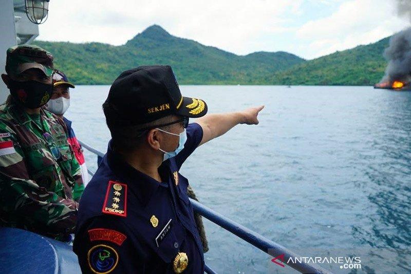 KKP tangkap dua kapal ikan Vietnam di Laut Natuna Utara