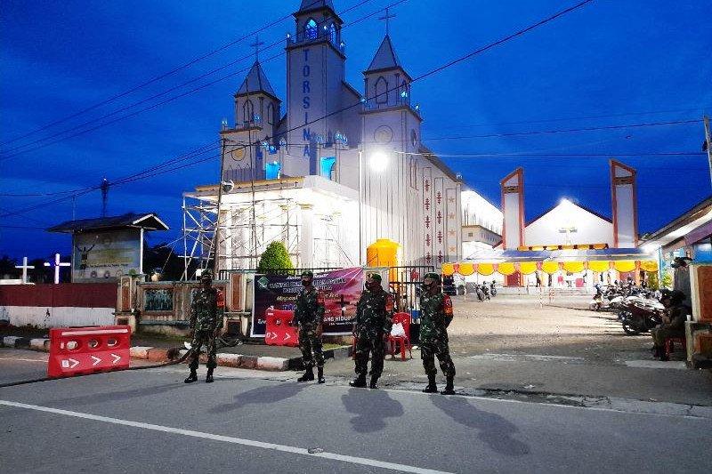 Prajurit TNI amankan ibadah perayaan Paskah di gereja Mimika
