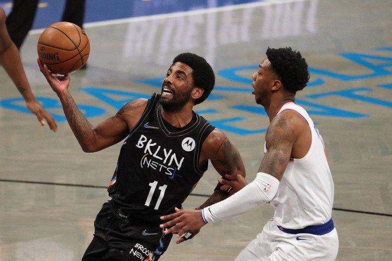 Irving borong 40 poin saat Nets hantam Knicks 114-112