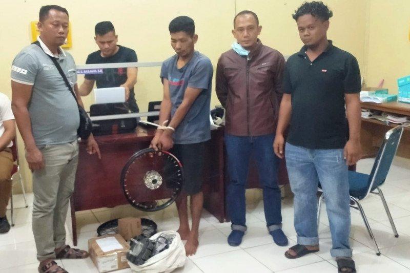 Satreskrim Polres Pasaman Barat tangkap pencuri peralatan bengkel