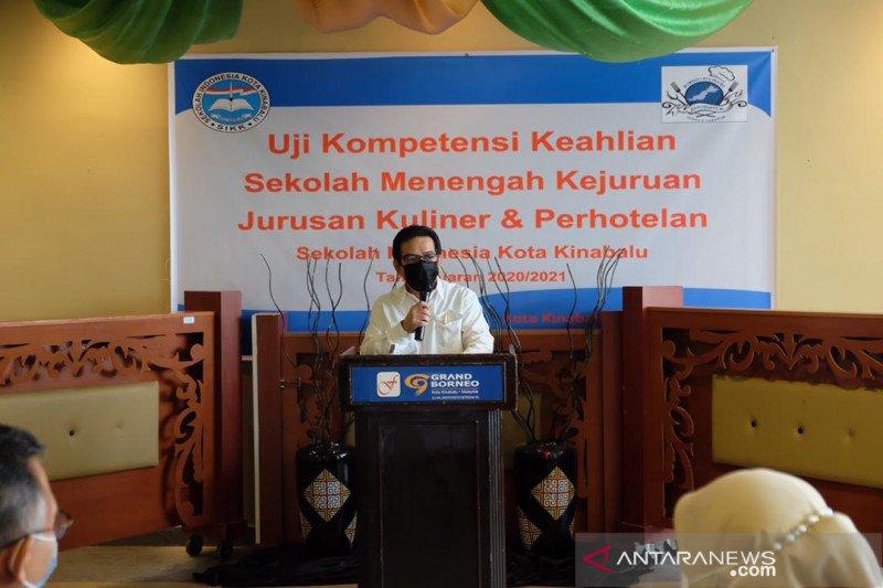 Uji kompetensi siswa SMK Sekolah Indonesia berlangsung di Kinabalu