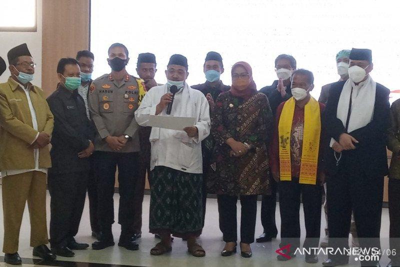Bupati Bogor dan tokoh lintas agama deklarasi tangkal terorisme