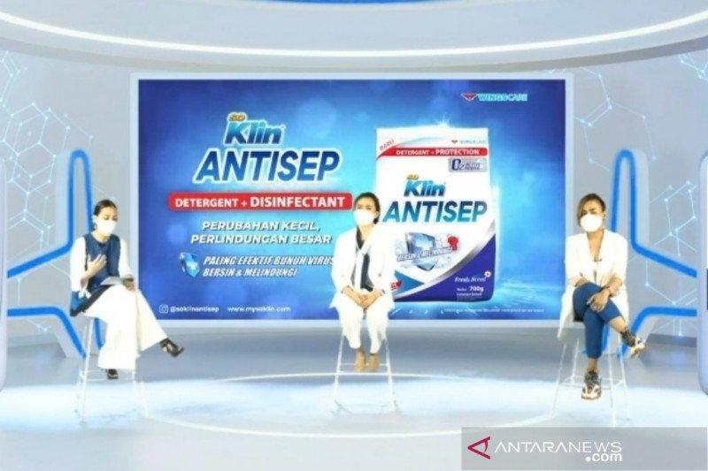 Deterjen dengan disinfektan klaim mampu singkirkan virus pada pakaian