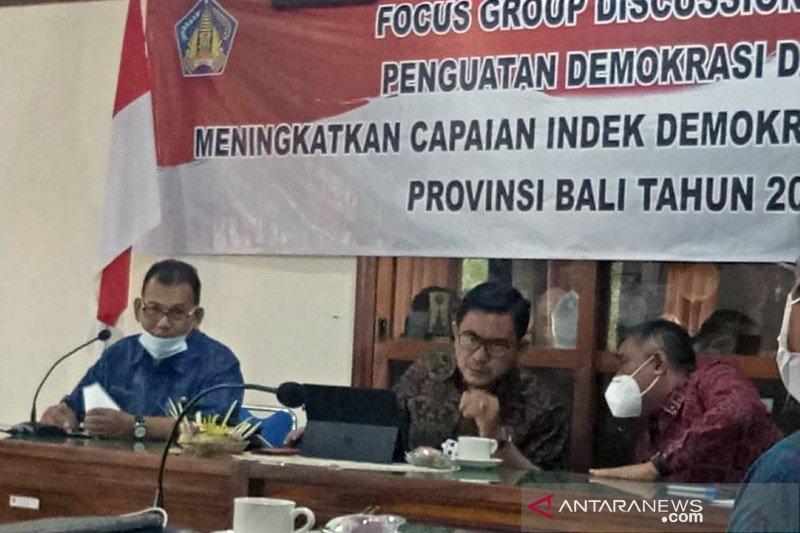 Bakesbangpol: Indeks Demokrasi Bali turun tapi masih baik