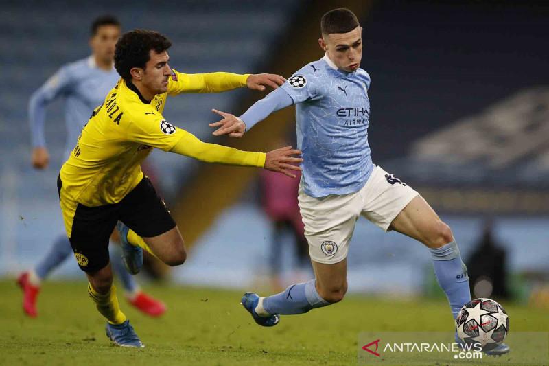 Liga Champions: City menang tipis 2-1 atas Dortmund di leg pertama