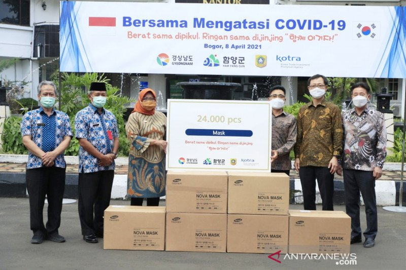 Kabupaten Bogor dapat kiriman 24 ribu masker dari Korea Selatan