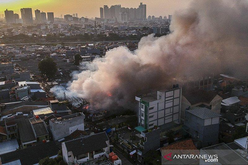 Kebakaran Pasar Kambing diduga akibat arus pendek listrik