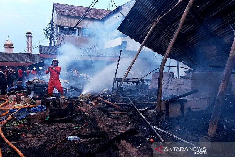 Damkar telah padamkan kebakaran di Pasar Kambing