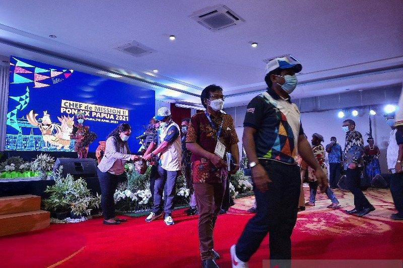 "Peserta CdM Meeting II PON Papua gelar aksi ""eba mokai"" untuk NTT"