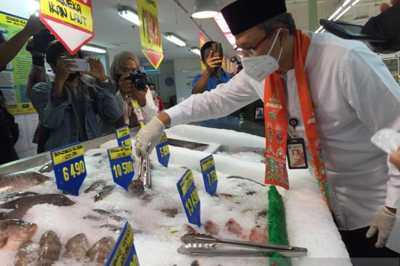 Stok pangan di Jakarta Pusat aman sampai Lebaran