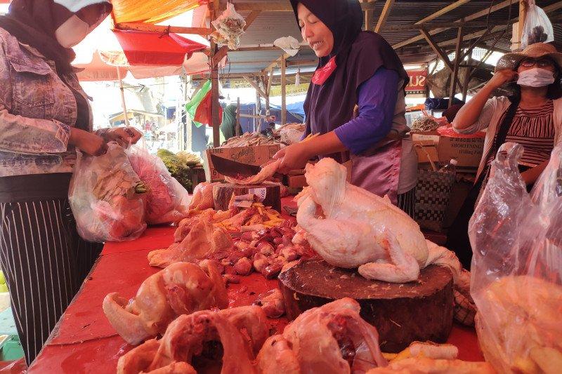 Harga daging sapi dan ayam di Bandarlampung beranjak naik