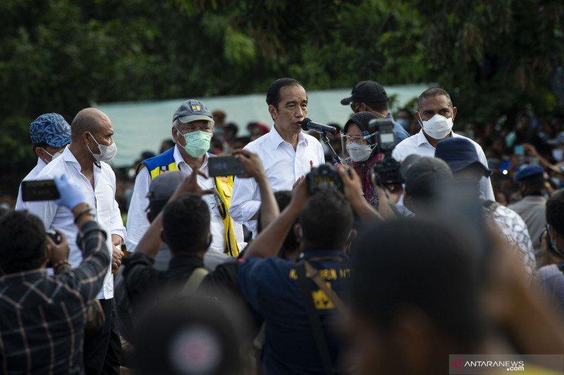 Presiden tinjau lokasi bencana tanah longsor di Flores Timur