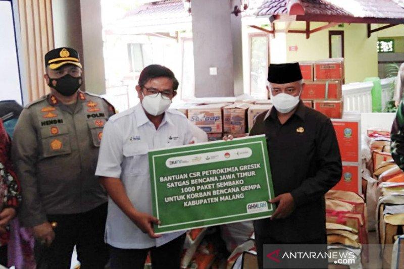 Petrokimia Gresik salurkan bantuan bagi korban gempa Malang