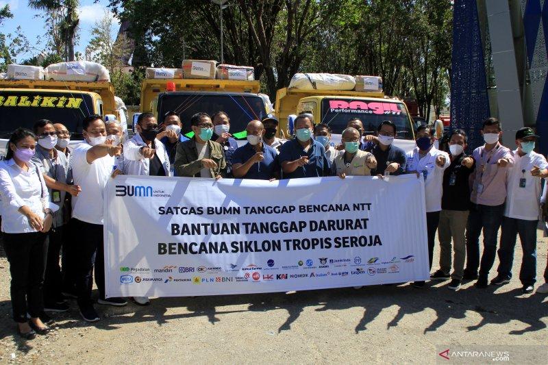 Bantuan Rp5,1 miliar disalurkan Satgas BUMN bagi korban bencana di NTT