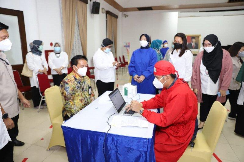 1.209 pegawai Perpusnas ikuti program vaksinasi COVID-19