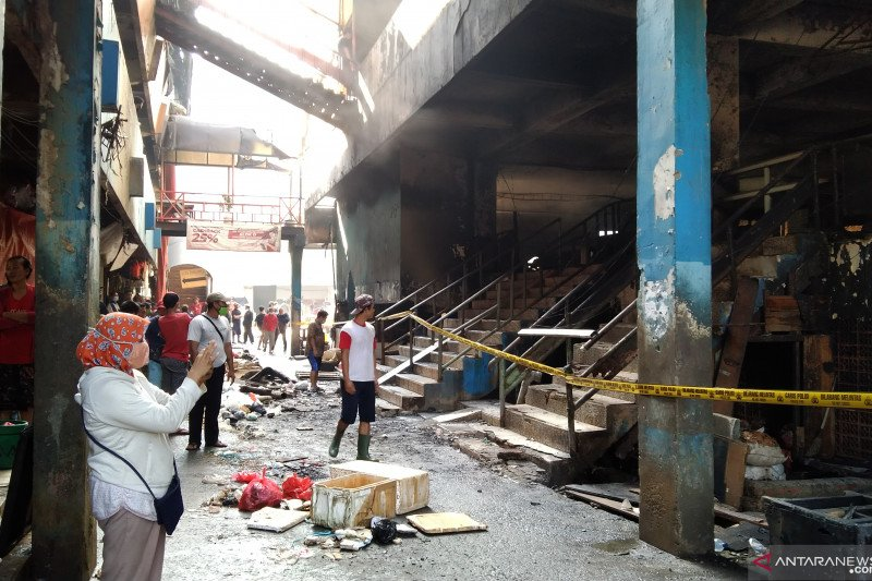 Pedagang Blok C Pasar Minggu rugi ratusan juta karena kebakaran