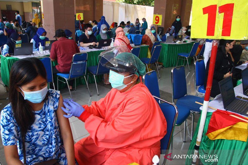 Total 10.373.963 orang telah jalani vaksinasi COVID-19