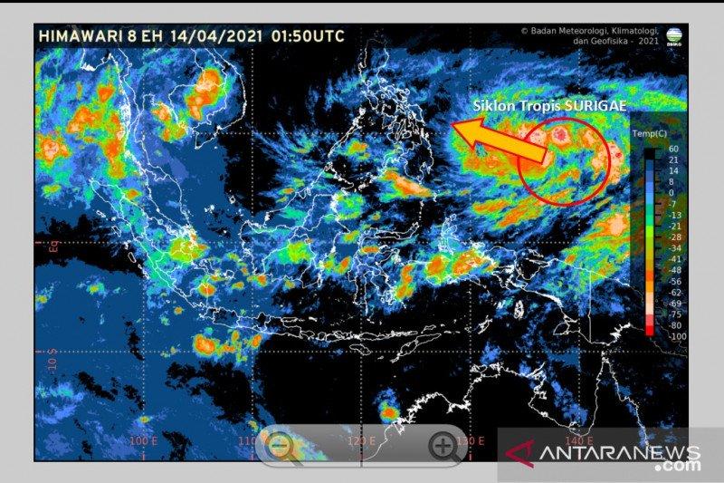 Siklon Tropis Surigae terbentuk di Pasifik Barat utara Papua