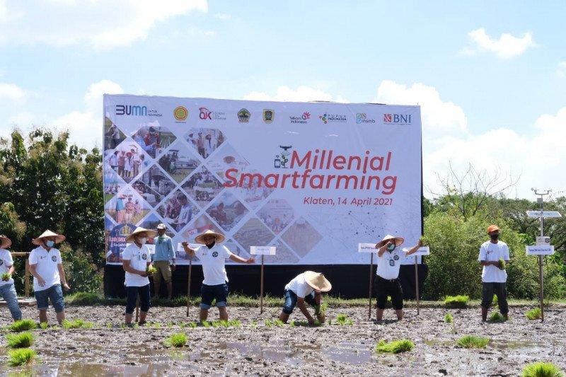 """BNI lakukan program """"milenial smartfarming"""" di Klaten"""
