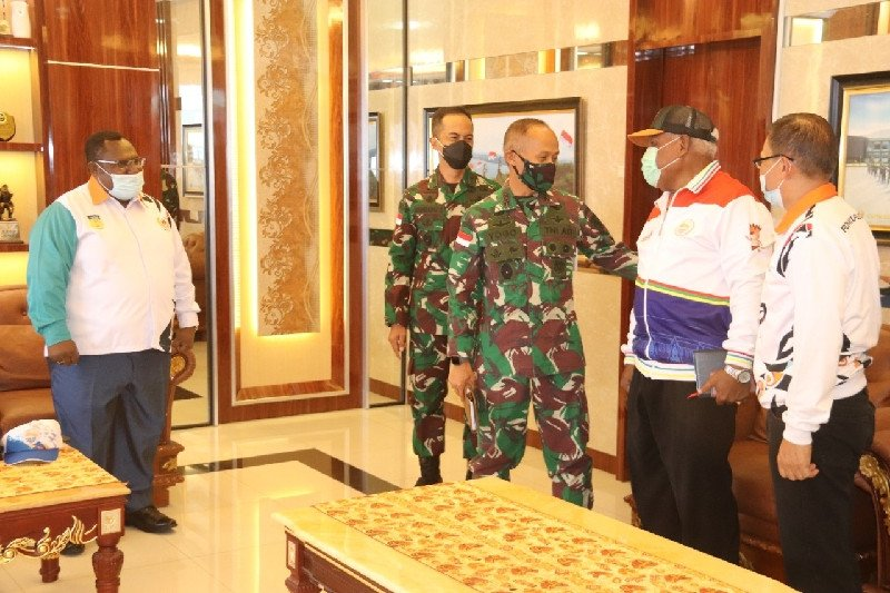 KONI Papua-Pangdam Cenderawasih bahas pelaksanaan PON XX