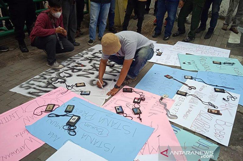 Jurnalis Medan menolak arogansi tim pengamanan Wali Kota