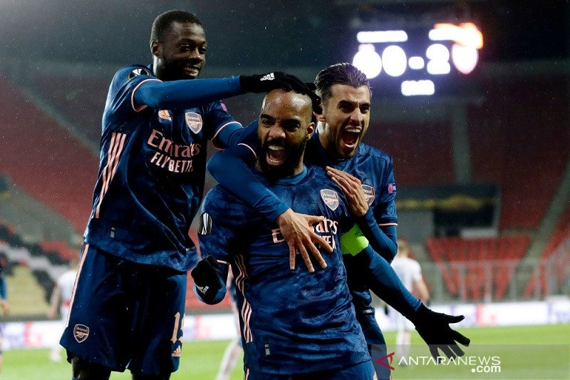 Arsenal menang telak di markas Slavia demi kunci tiket semifinal