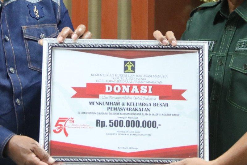 Kemenkumham kembali salurkan donasi untuk korban bencana alam