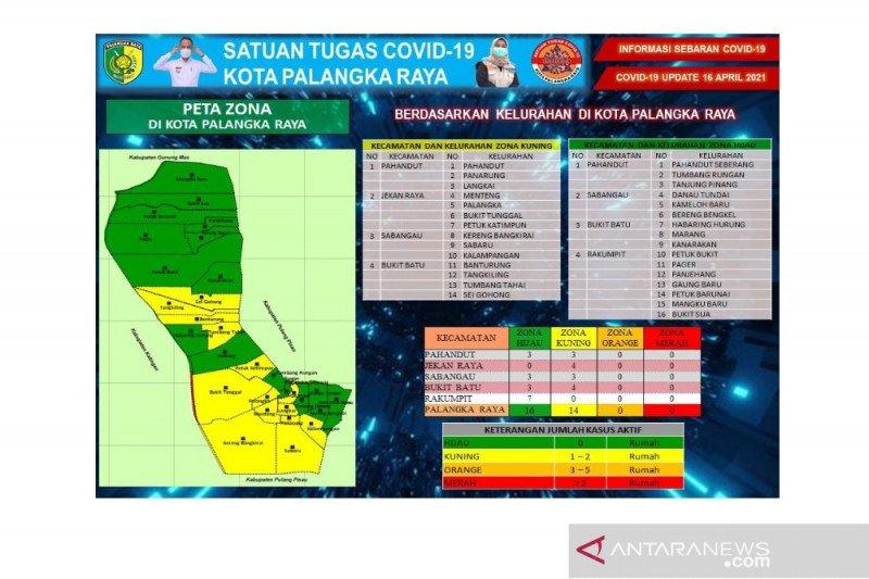 16 kelurahan di Palangka Raya zona hijau COVID-19