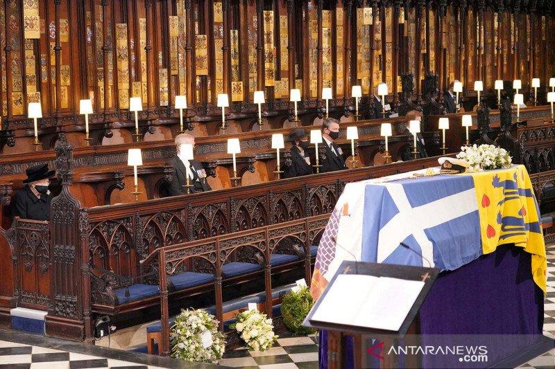 Pemakaman Pangeran Philip disaksikan lebih dari 13 juta penonton