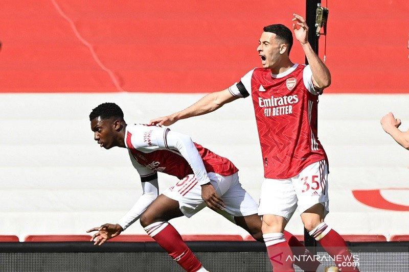 Gol larut Nketiah selamatkan Arsenal dari kekalahan lawan Fulham