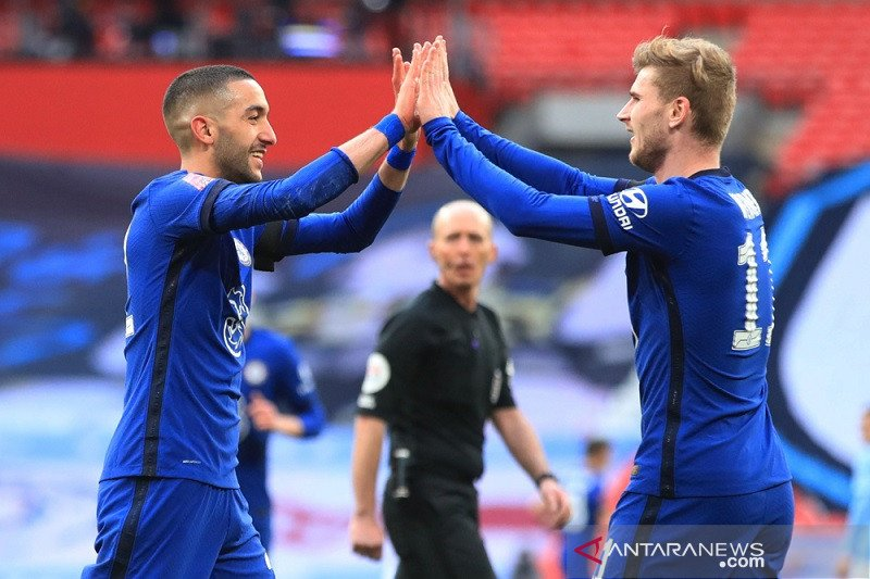 Hakim Ziyech bawa Chelsea lewati City menuju final Piala FA