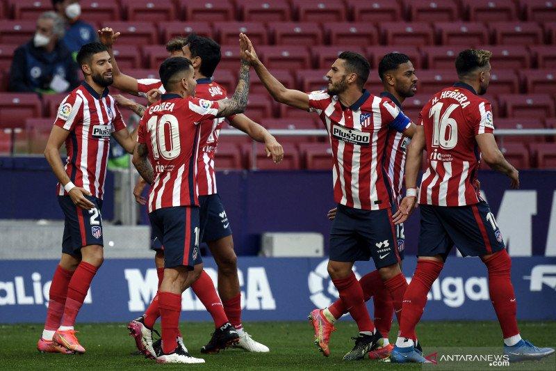 Menang telak atas Eibar, Atletico Madrid pertahankan puncak klasemen